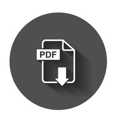 pdf download icon simple flat pictogram for vector image