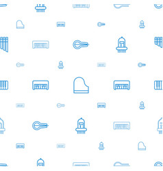 piano icons pattern seamless white background vector image