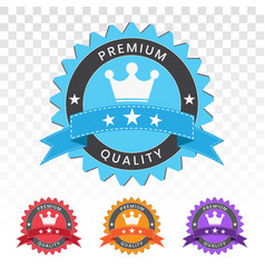 Premium quality seal stamp on a transparent vector