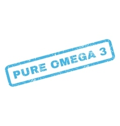 Pure omega 3 rubber stamp vector