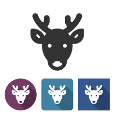 reindeer icon in different variants vector image