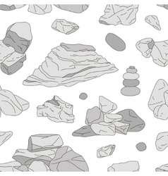 Rocks and stones elements pattern vector