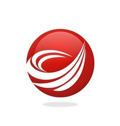 Round swirl abstract logo vector