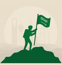 Saudi national day design vector