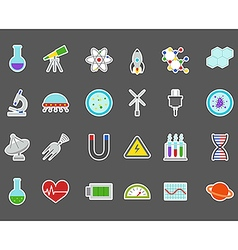 Science stickers set vector image