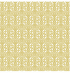 seamless golden pattern in oriental style vector image