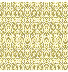 Seamless golden pattern in oriental style vector