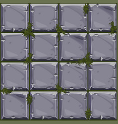 Seamless texture of stone on grass background vector