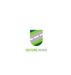Secure road logo design vector