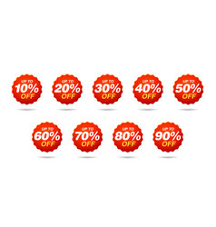 set sale tags discount stickers pack vector image