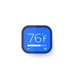 Smart thermostat temperature control vector