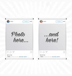 social network photo frames vector image