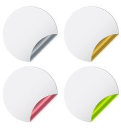 Stickers with metallic backs vector