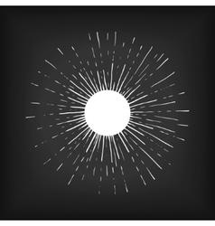 Sun engraving style vector image
