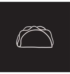 Taco sketch icon vector