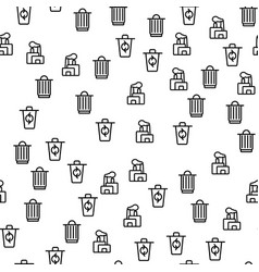 trash process recycling seamless pattern vector image