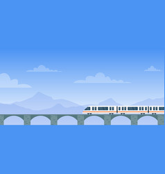 travel train cartoon flat vector image