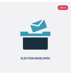 Two color election envelopes and box icon from vector