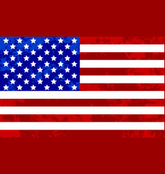usa flag grunge texture abstract background vector image