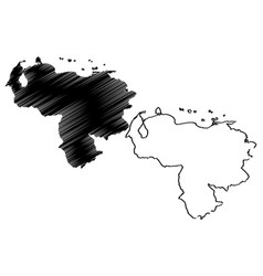 venezuela map vector image