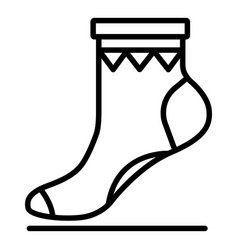 xmas sock icon outline style vector image