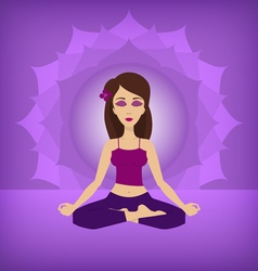 Yoga lotus pose flat vector