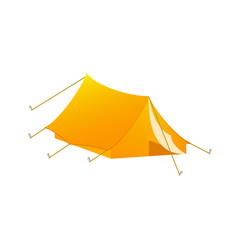 camping tent in orange design vector image
