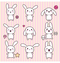 Cartoon cute rabbit character vector