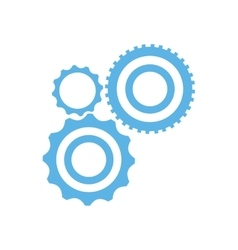 collection gear wheel technology mechanical vector image