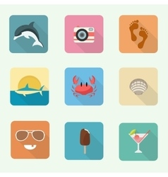 Colorful icon set vector image vector image