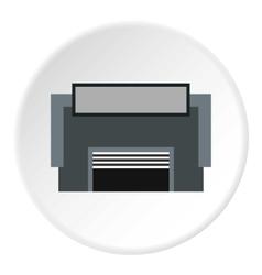 Concrete garage icon flat style vector