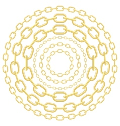 gold circle chains vector image vector image