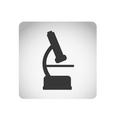 monochrome square frame with silhouette microscope vector image