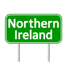 Northern Ireland road sign vector image vector image