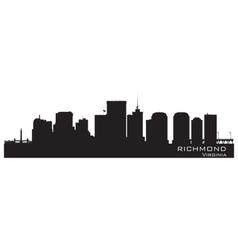 Richmond Virginia skyline Detailed city silhouette vector image vector image