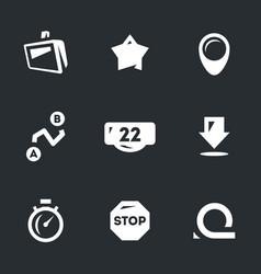 set of road navigation icons vector image