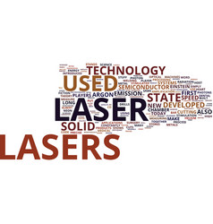 the innumerous benefits of laser technology text vector image