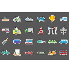 Transport stickers set vector image
