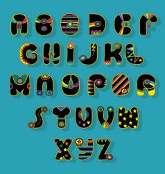 black alphabet superhero style vector image vector image
