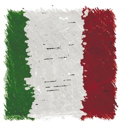 Flag of Italy handmade square shape vector image vector image