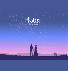 night couple vector image vector image