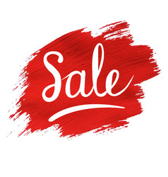 sale banner with red blob vector image vector image