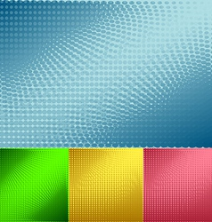 Background of halftone set vector image vector image