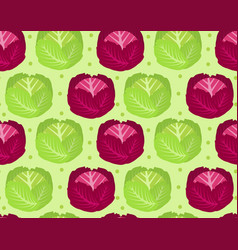 cabbage seamless pattern red cabbage endless vector image vector image