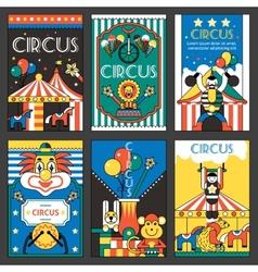 Circus retro posters vector