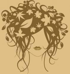 fashion girl autumn vector image vector image