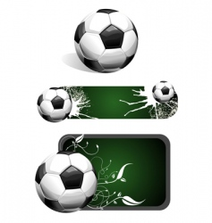 football banner vector image vector image