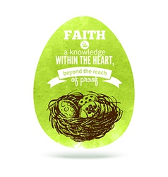 Greeting card with Easter egg symbol vector image