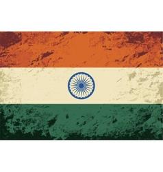 Indian flag grunge background vector