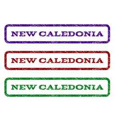new caledonia watermark stamp vector image